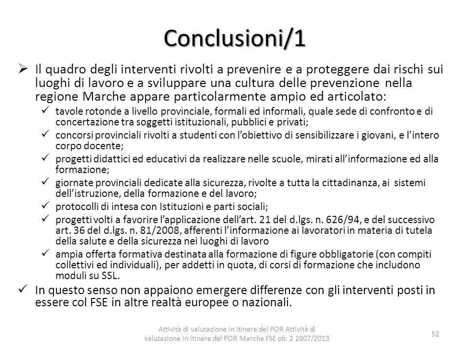 Conclusioni/1