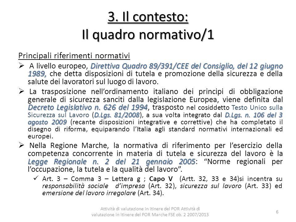 3. Il contesto: Il quadro normativo/1