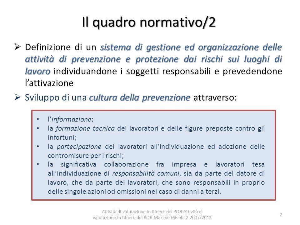 Il quadro normativo/2