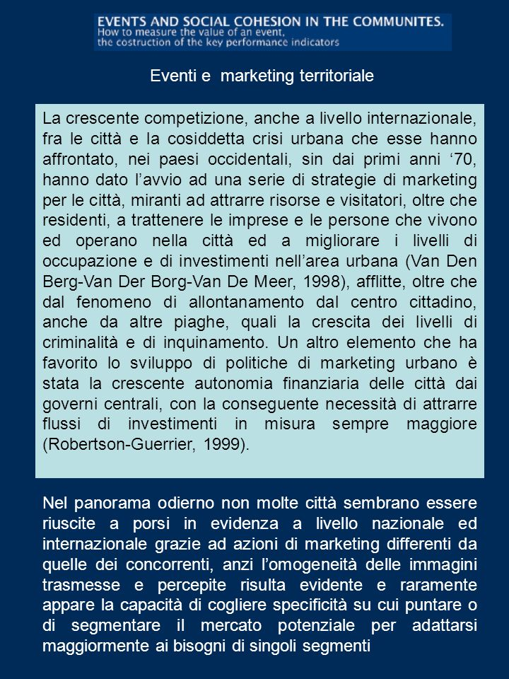 Eventi e marketing territoriale
