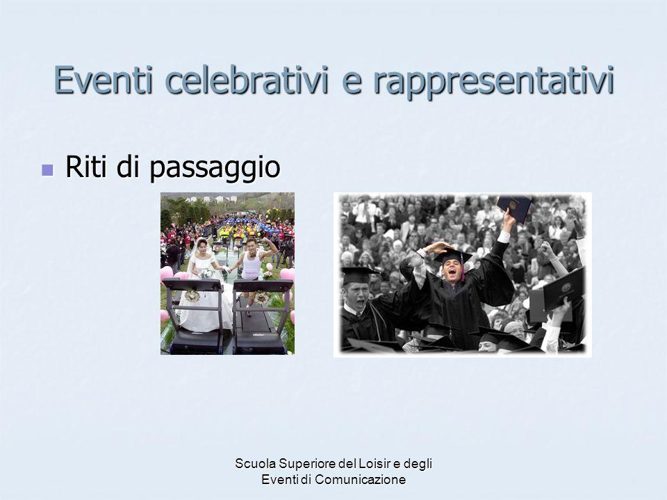 Eventi celebrativi e rappresentativi
