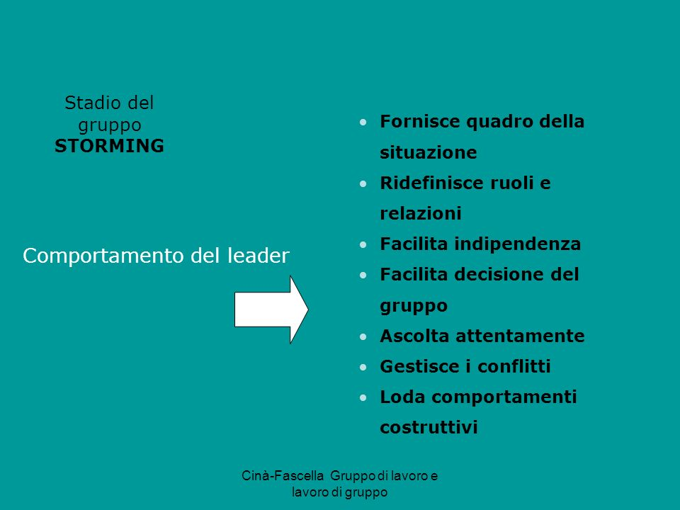 Comportamento del leader