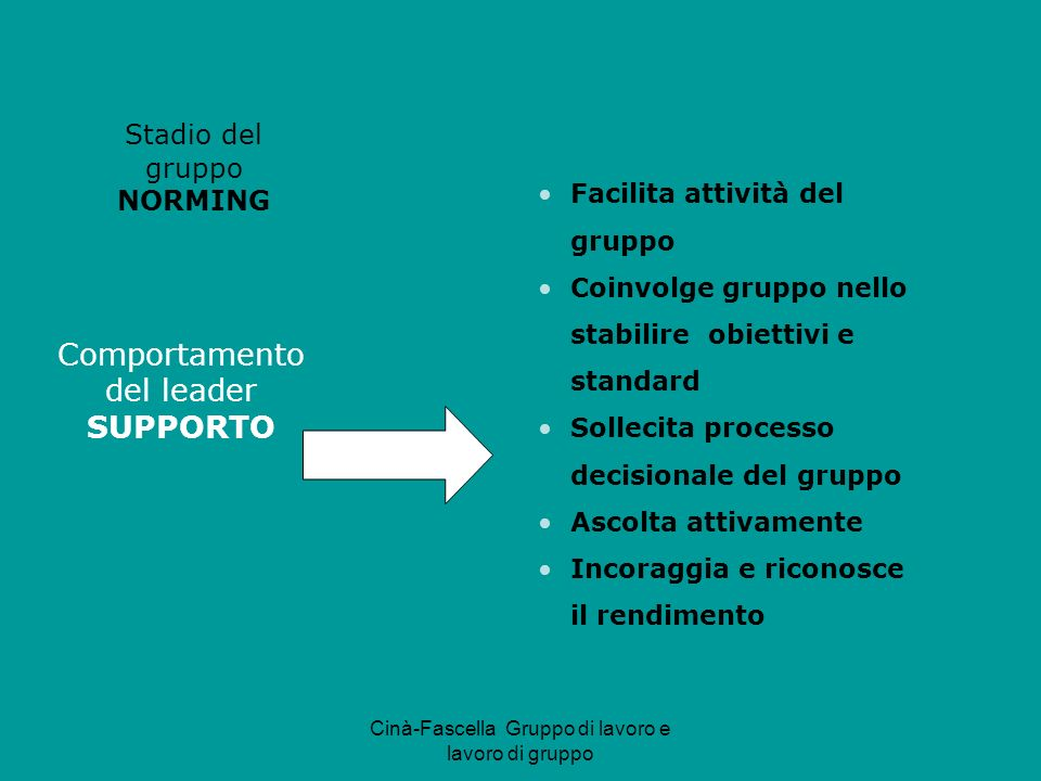 Comportamento del leader SUPPORTO