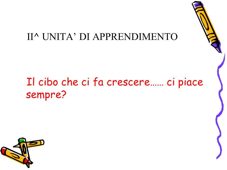 II^ UNITA' DI APPRENDIMENTO