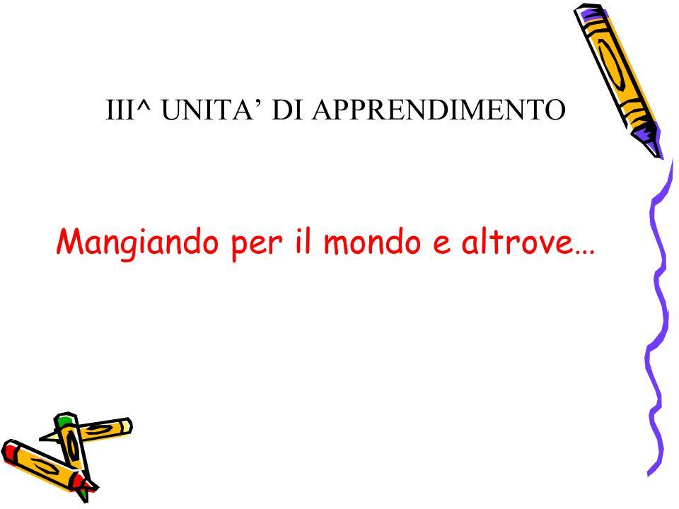 III^ UNITA' DI APPRENDIMENTO