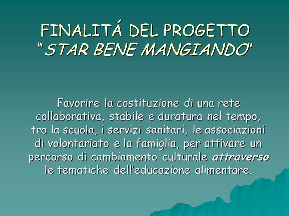 FINALITÁ DEL PROGETTO STAR BENE MANGIANDO