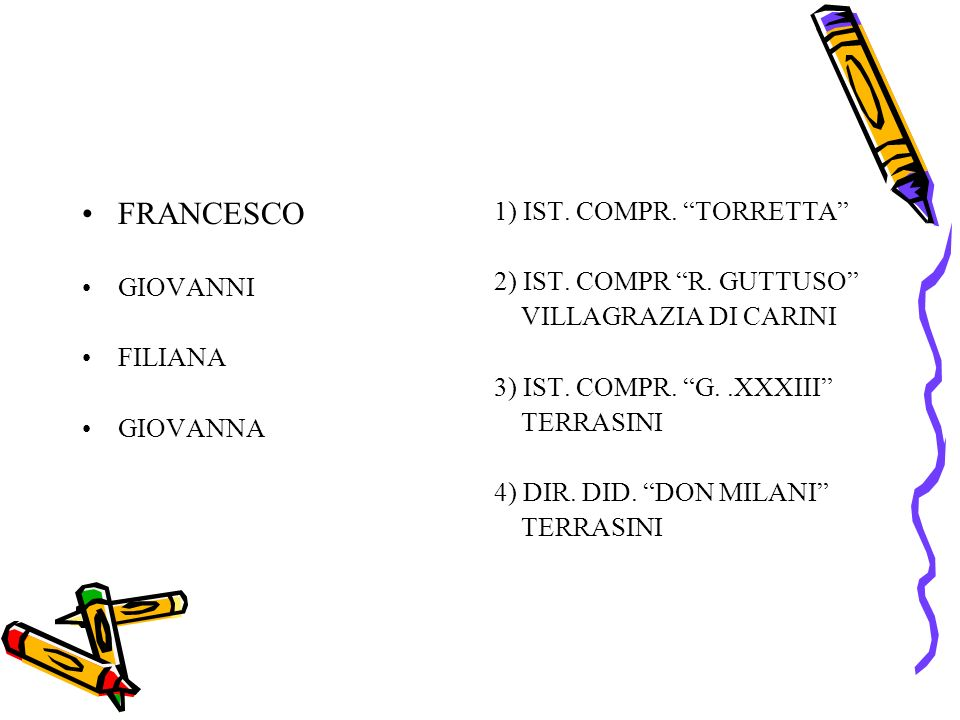 FRANCESCO 1) IST. COMPR. TORRETTA GIOVANNI