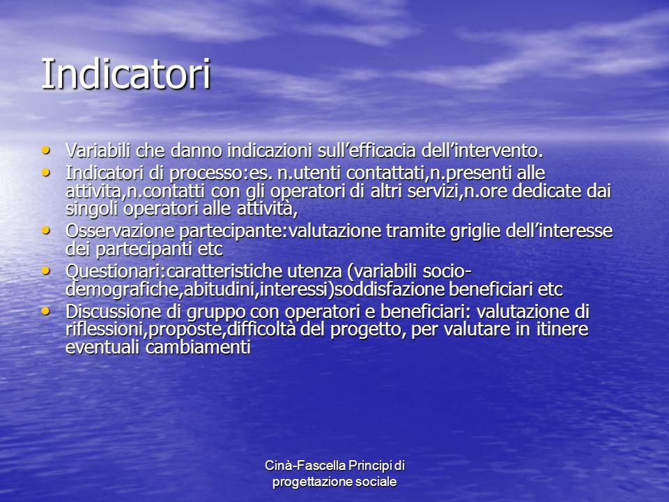 Cinà-Fascella Principi di progettazione sociale