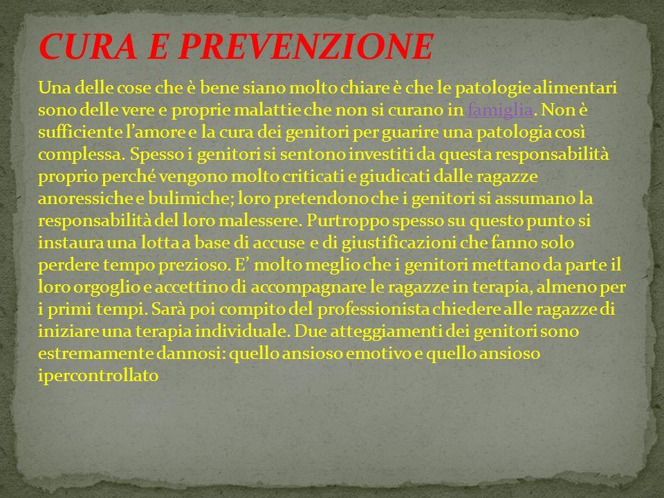 CURA E PREVENZIONE