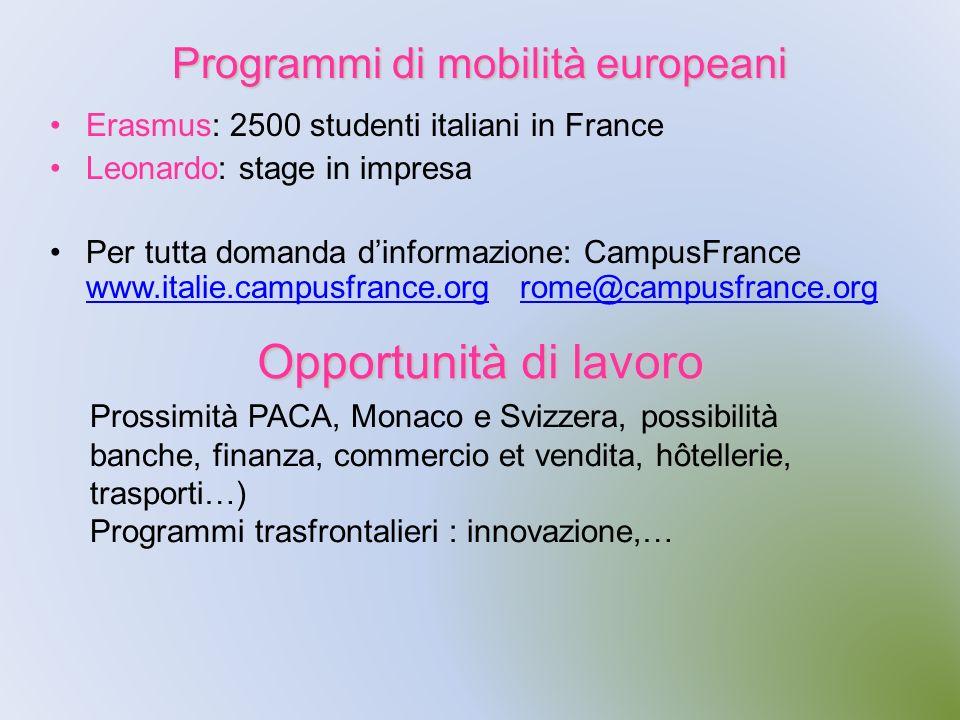 Programmi di mobilità europeani