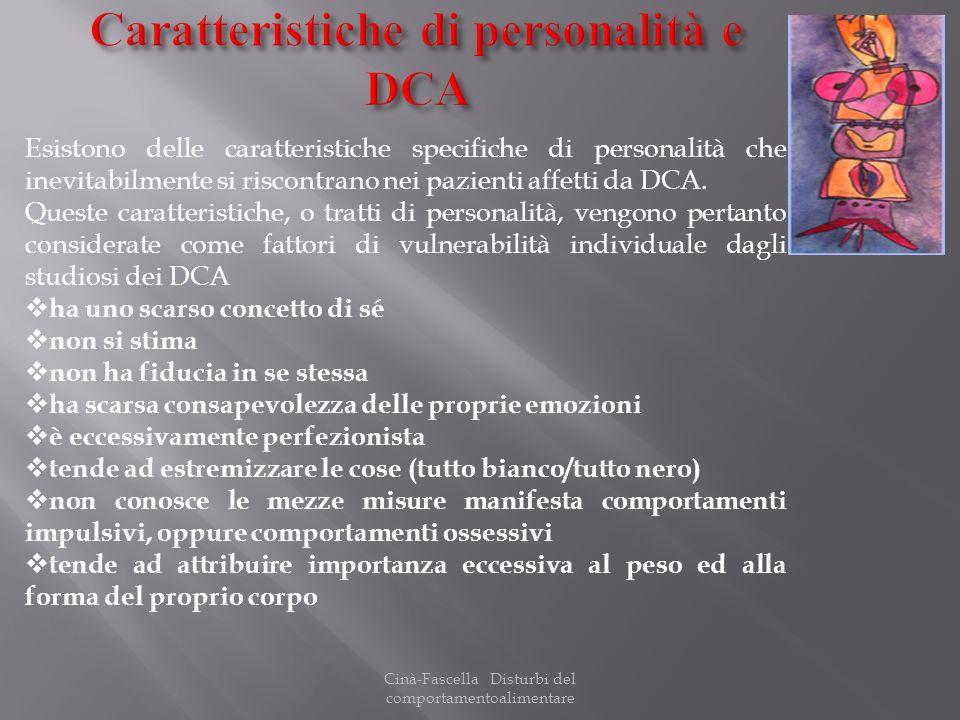 Caratteristiche di personalità e DCA