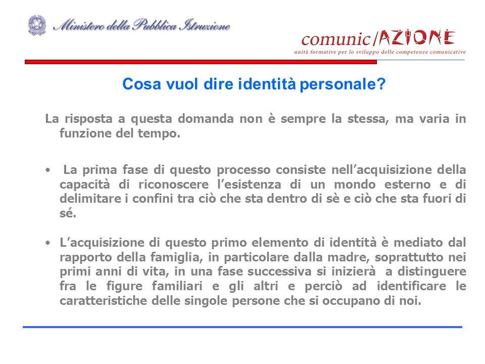 Cosa vuol dire identità personale