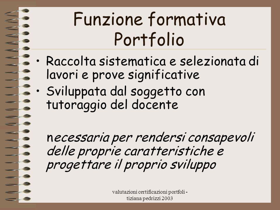 Funzione formativa Portfolio