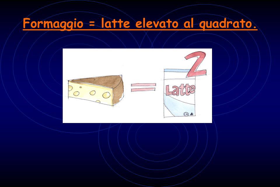 Formaggio = latte elevato al quadrato.