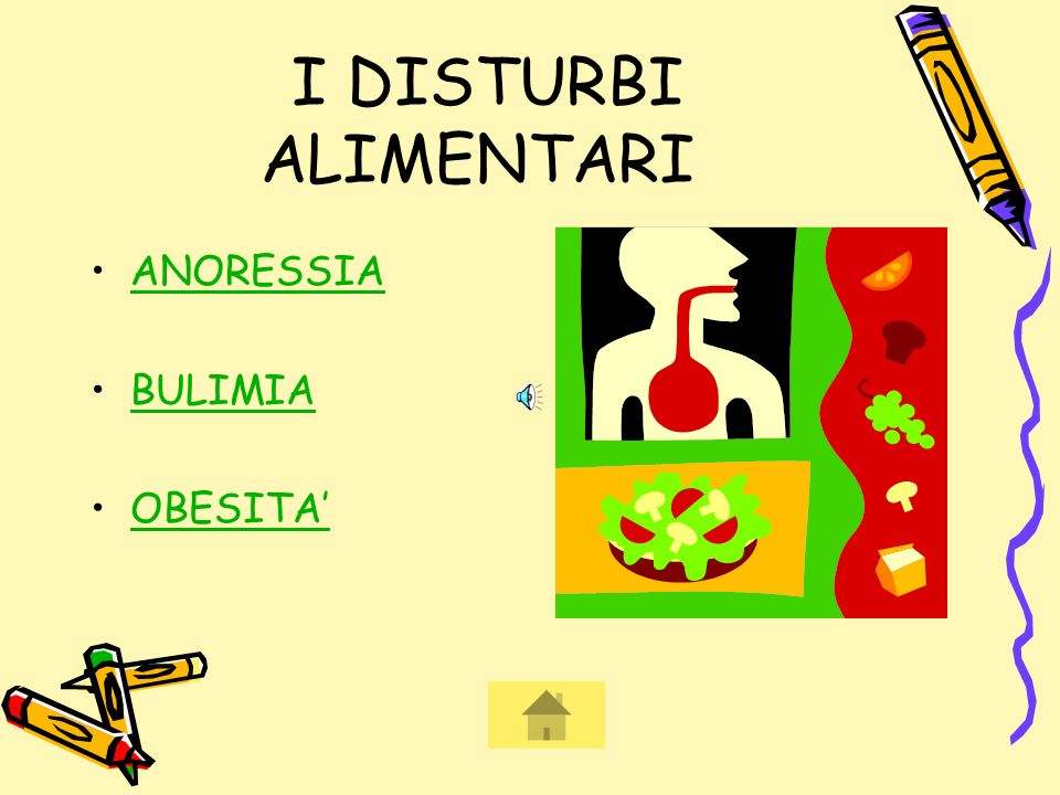 I DISTURBI ALIMENTARI ANORESSIA BULIMIA OBESITA'