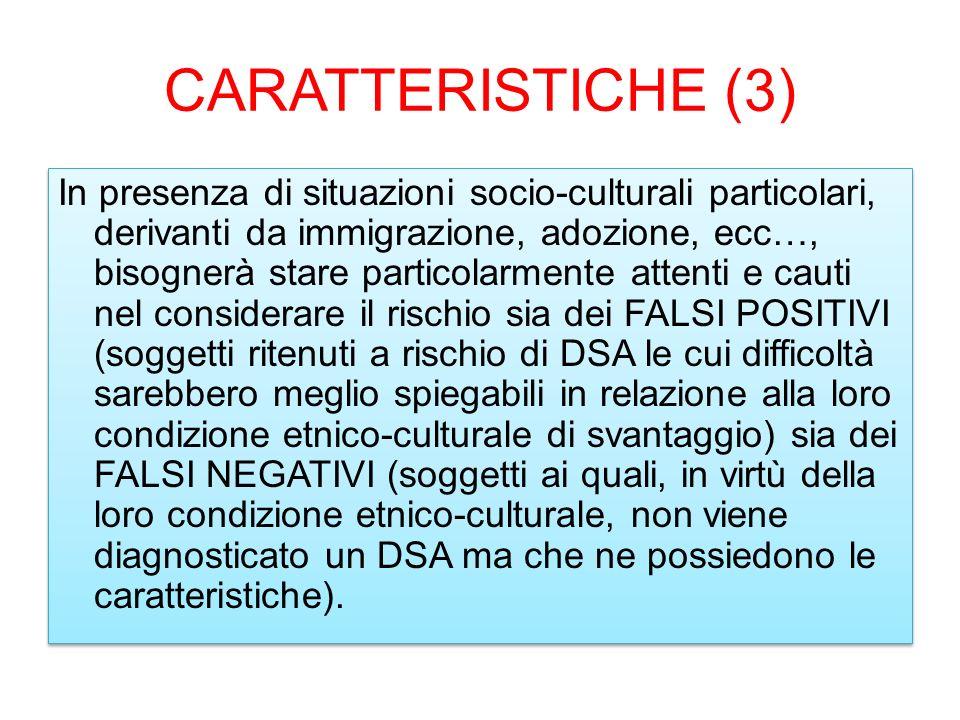 CARATTERISTICHE (3)