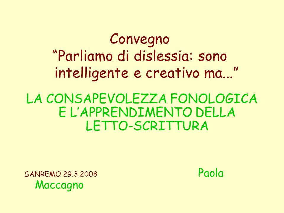 Convegno Parliamo di dislessia: sono intelligente e creativo ma...