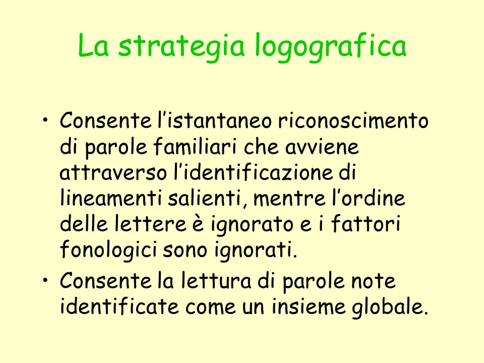 La strategia logografica