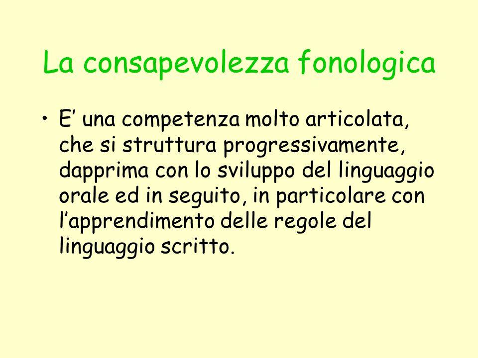 La consapevolezza fonologica
