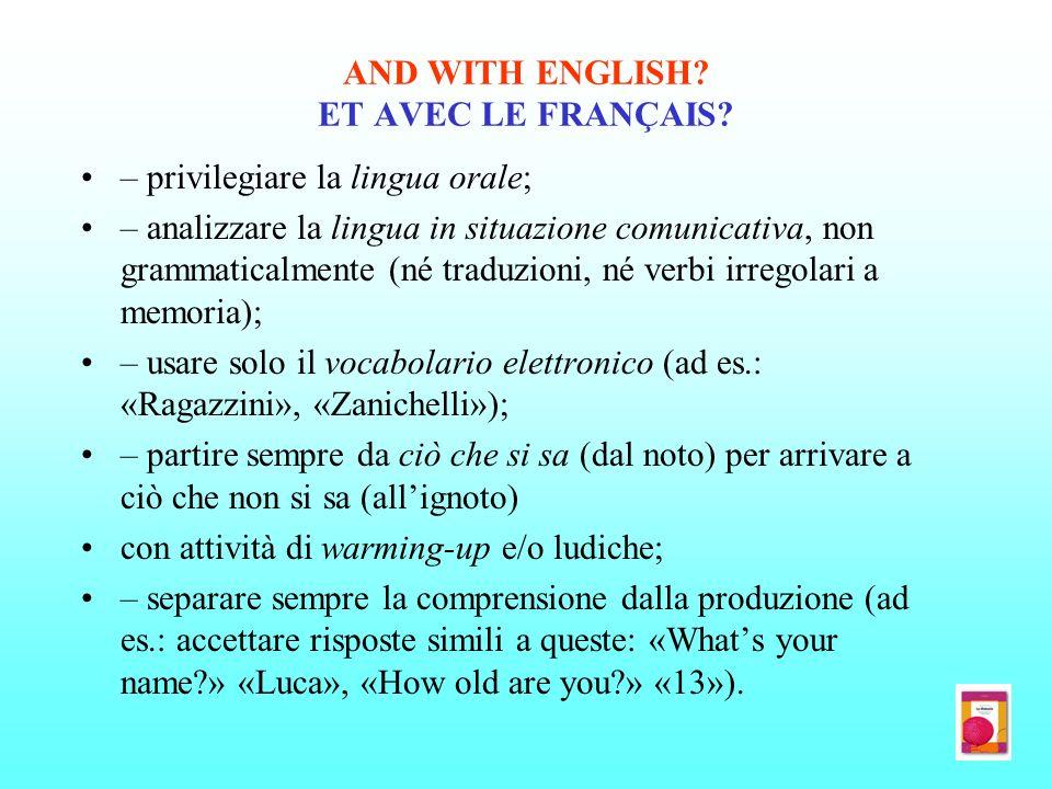 AND WITH ENGLISH ET AVEC LE FRANÇAIS