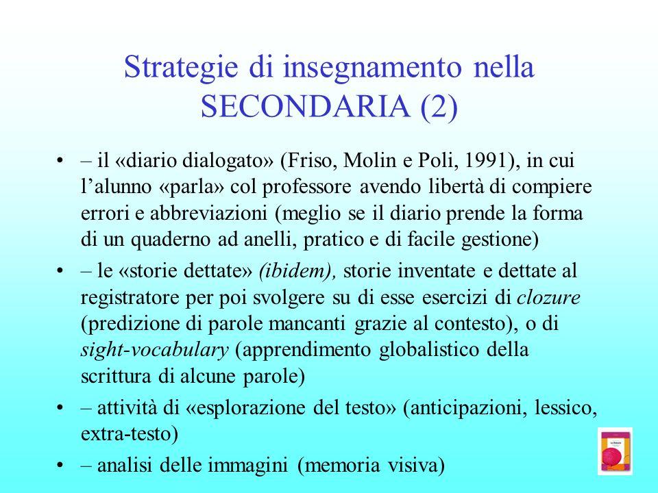 Strategie di insegnamento nella SECONDARIA (2)