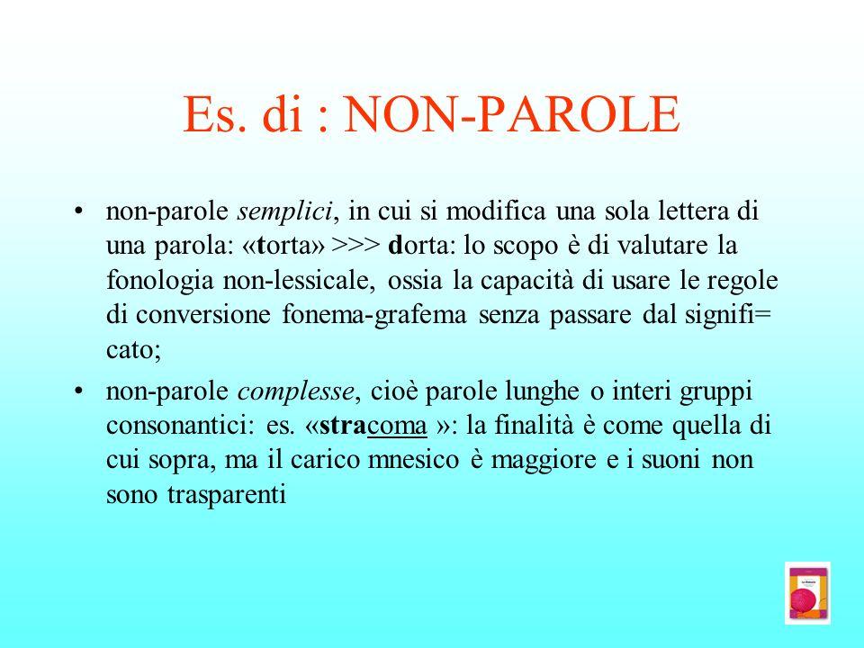 Es. di : NON-PAROLE