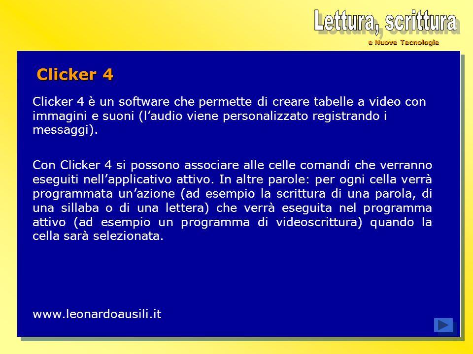 Lettura, scrittura Clicker 4