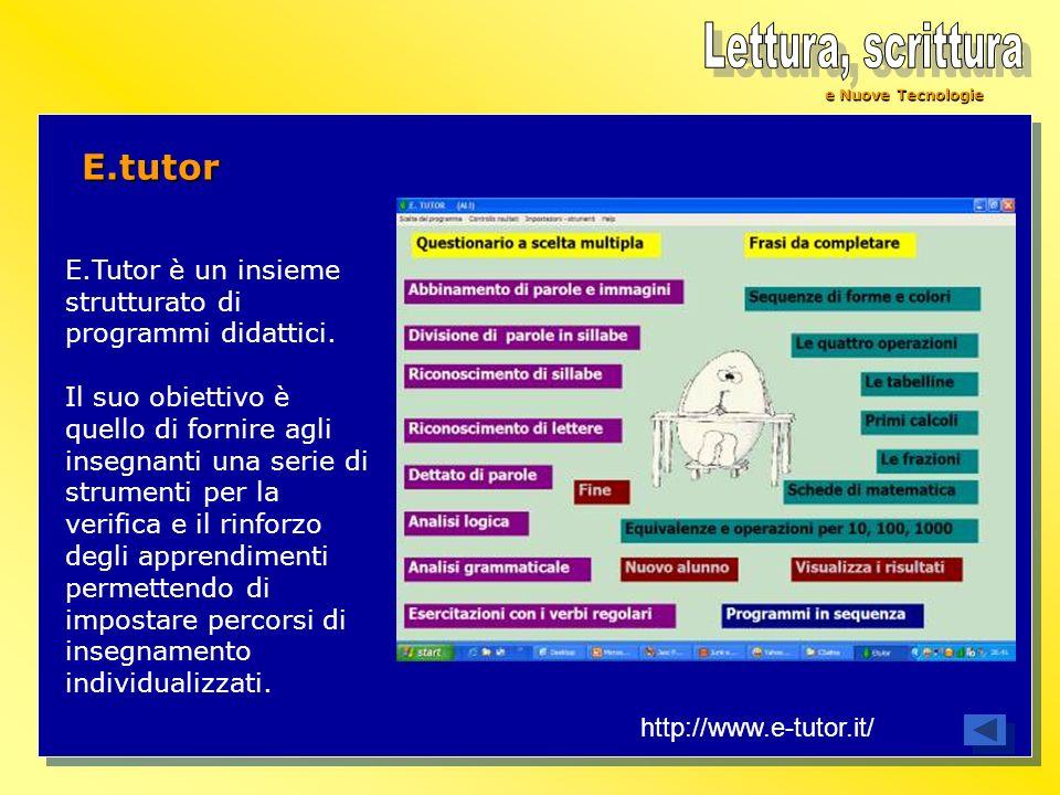 Lettura, scrittura E.tutor