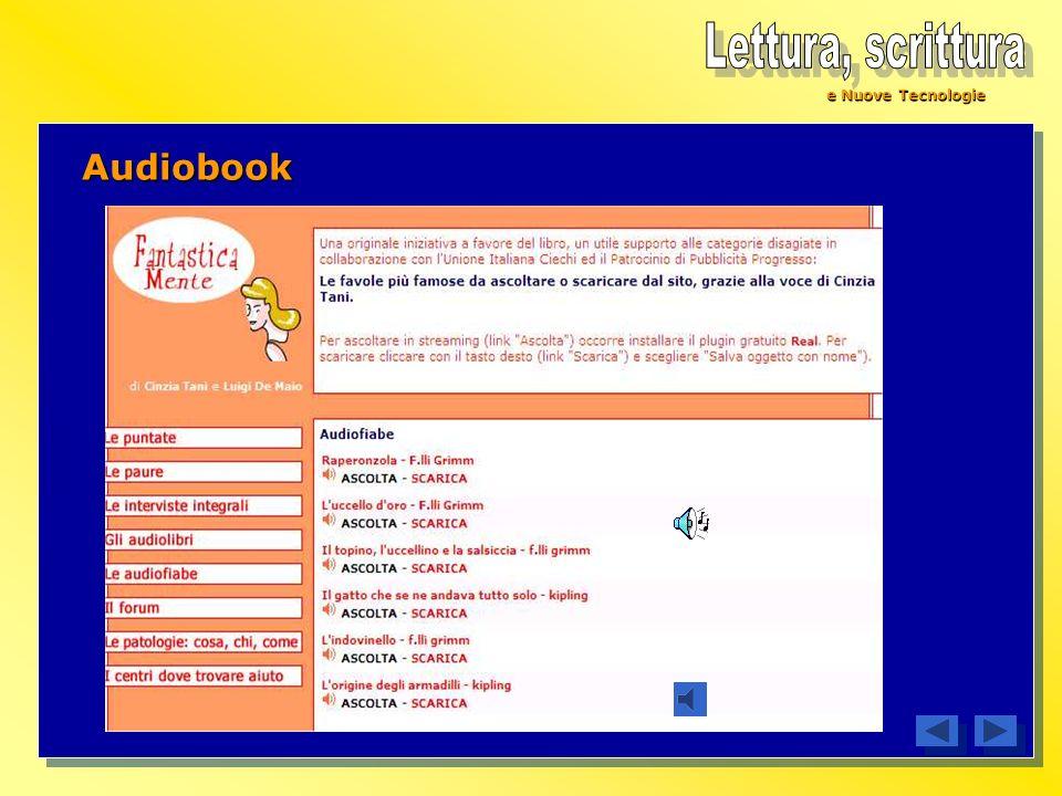 Lettura, scrittura e Nuove Tecnologie Audiobook