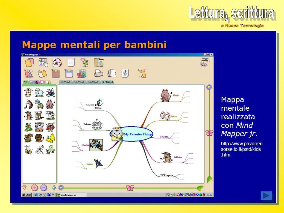 Lettura, scrittura Mappe mentali per bambini