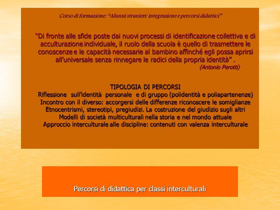 Percorsi di didattica per classi interculturali