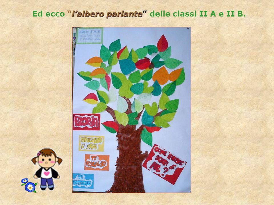 Ed ecco l'albero parlante delle classi II A e II B.