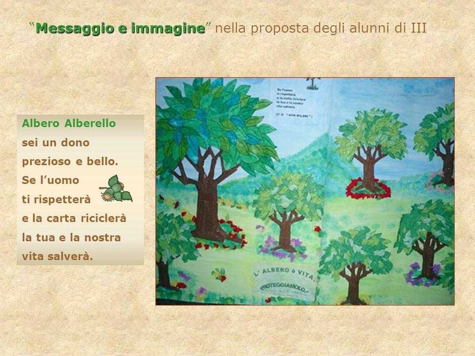 Messaggio e immagine nella proposta degli alunni di III