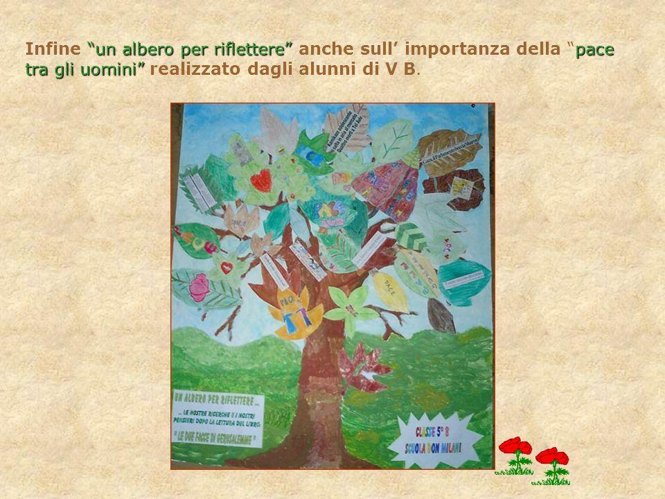 Infine un albero per riflettere anche sull' importanza della pace tra gli uomini realizzato dagli alunni di V B.