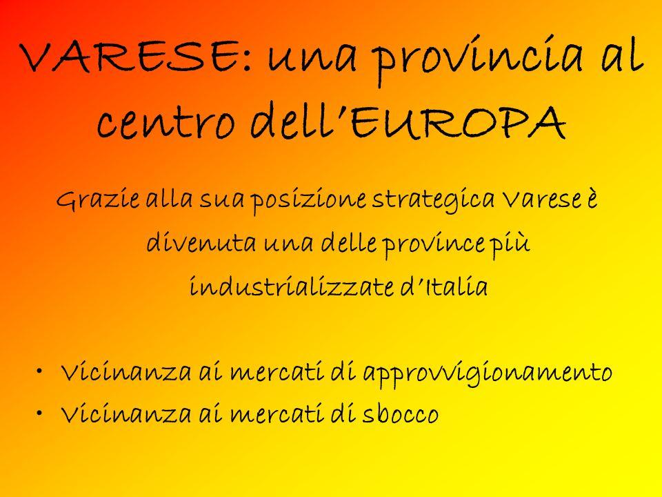 VARESE: una provincia al centro dell'EUROPA