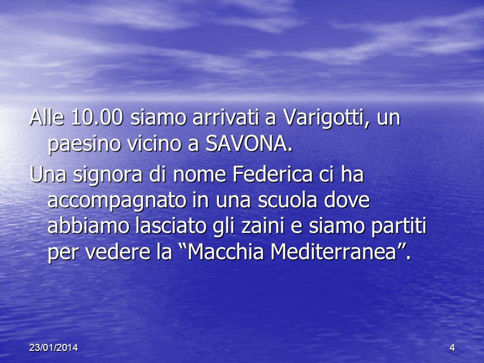 Alle 10.00 siamo arrivati a Varigotti, un paesino vicino a SAVONA.