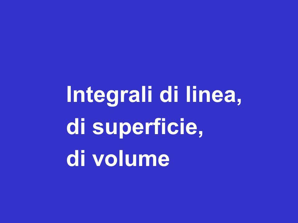 Inizio della lezione Integrali di linea, di superficie, di volume