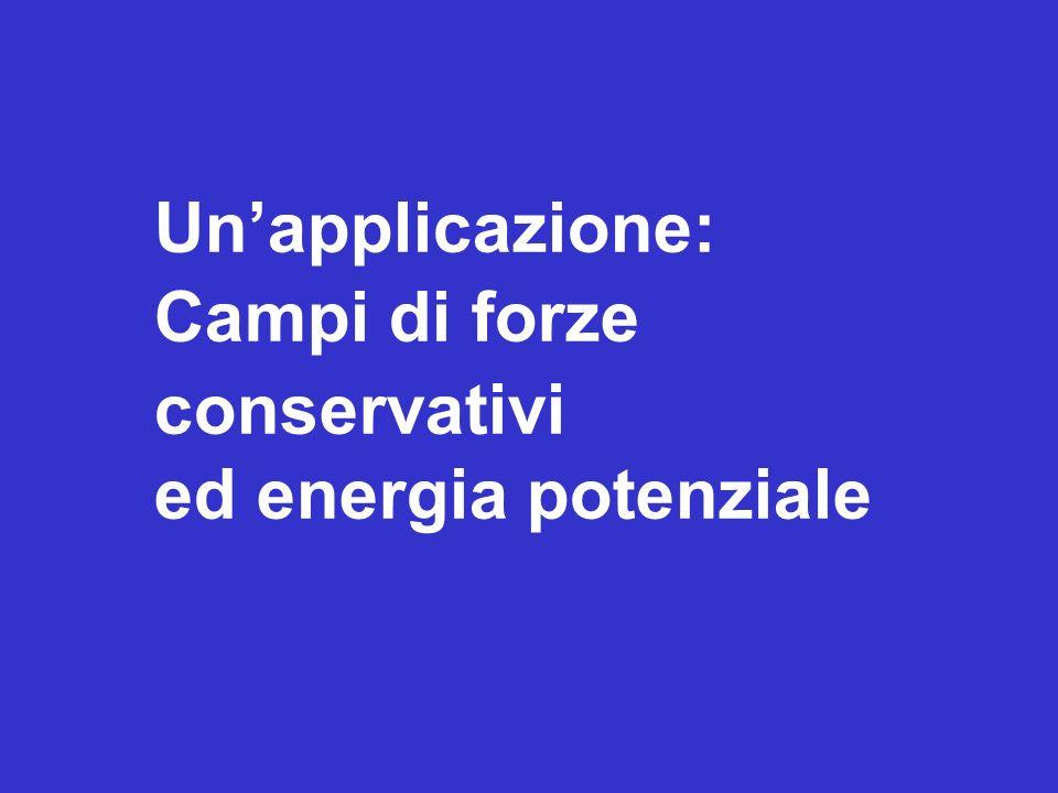 Un'applicazione: Campi di forze conservativi ed energia potenziale