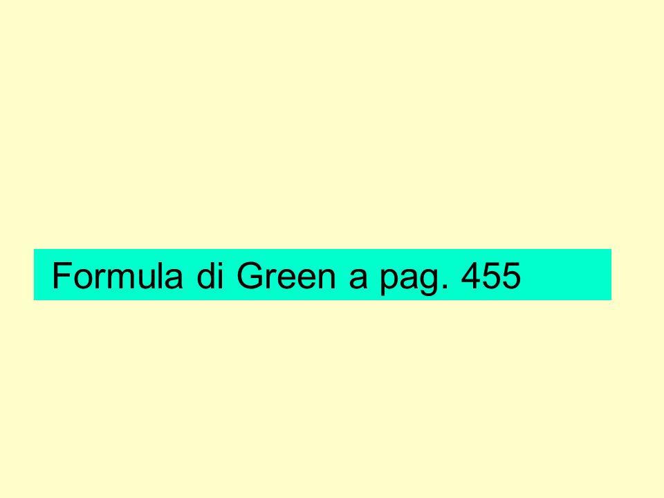 Formula di Green a pag. 455