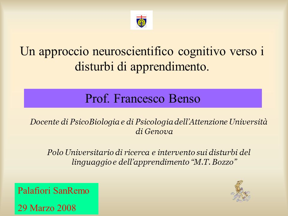 Un approccio neuroscientifico cognitivo verso i disturbi di apprendimento.