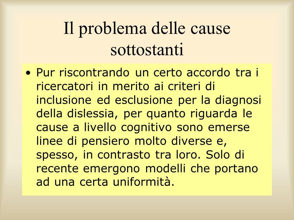 Il problema delle cause sottostanti