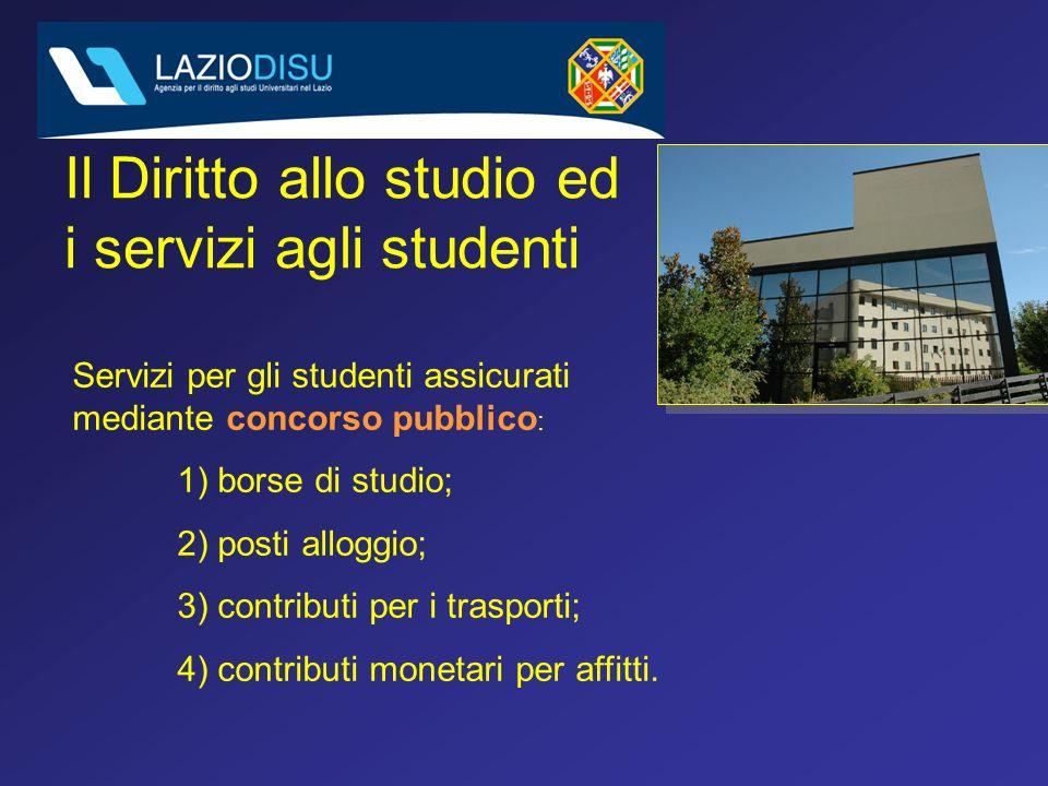 Il Diritto allo studio ed i servizi agli studenti