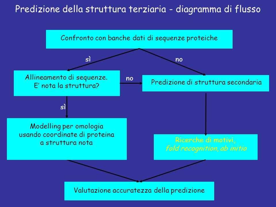 Predizione della struttura terziaria - diagramma di flusso