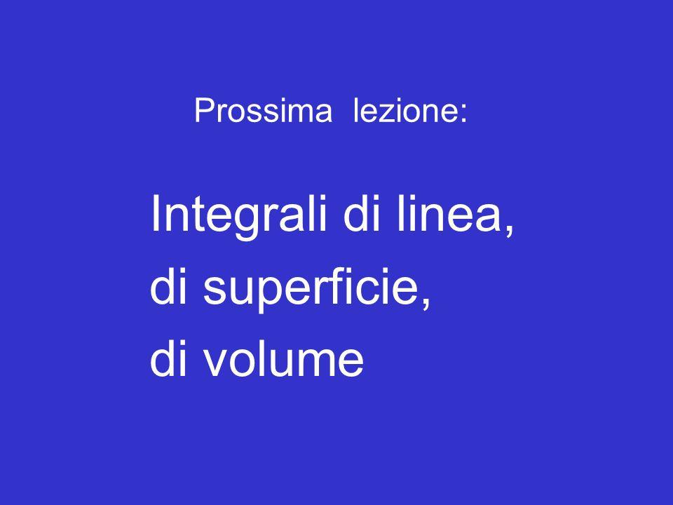 Integrali di linea, di superficie, di volume Fine della lezione
