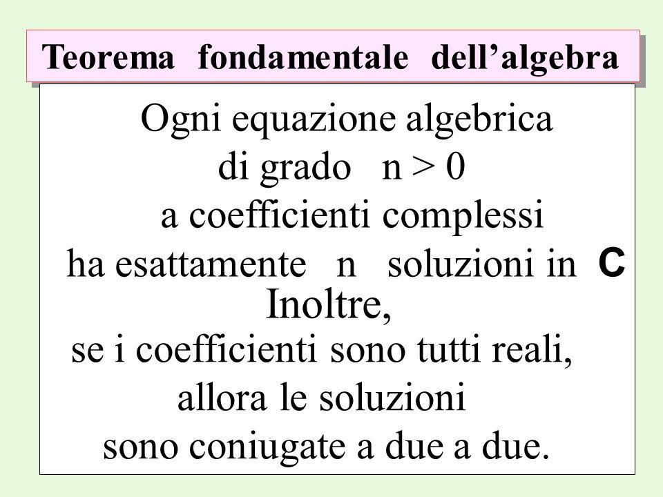 Inoltre, Ogni equazione algebrica di grado n > 0