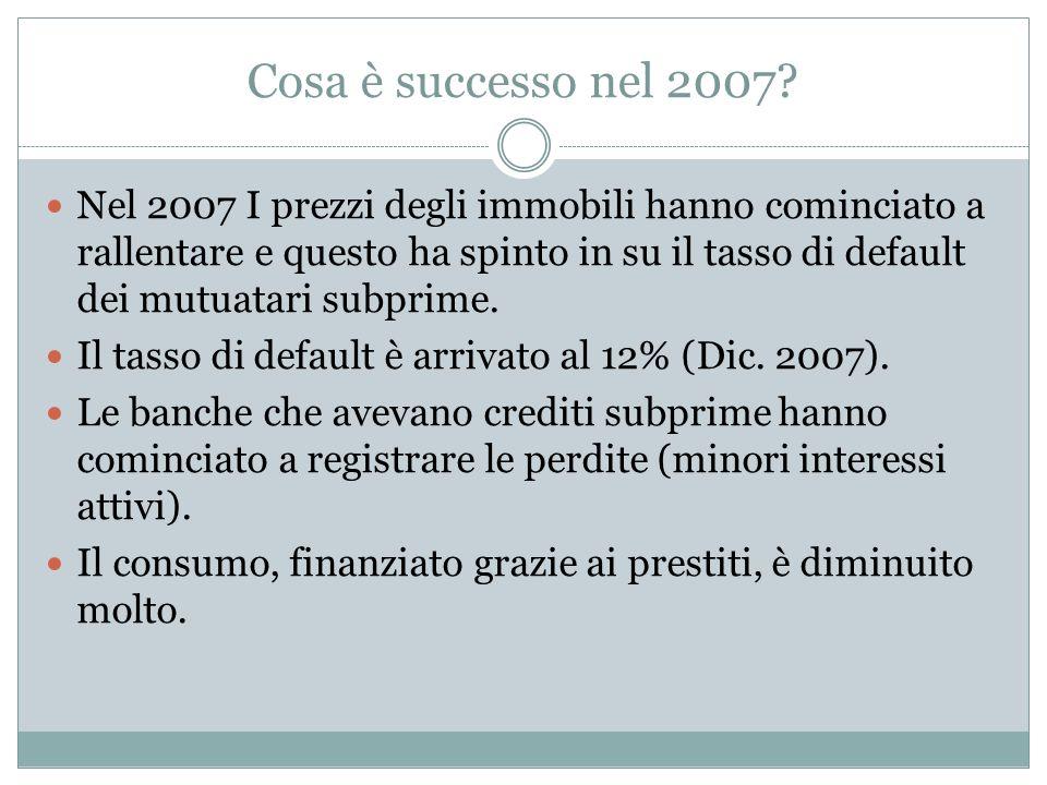 Cosa è successo nel 2007