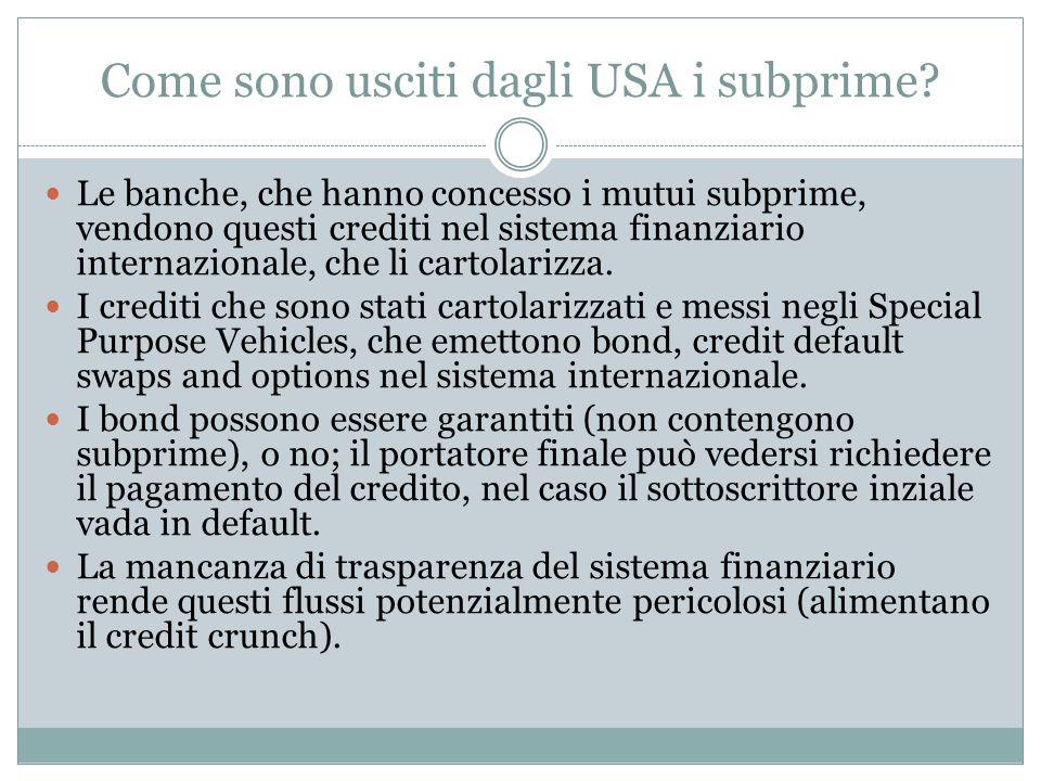 Come sono usciti dagli USA i subprime