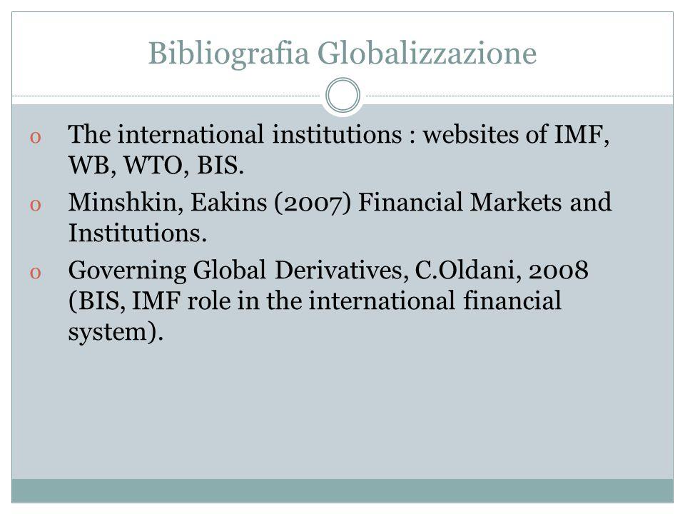 Bibliografia Globalizzazione