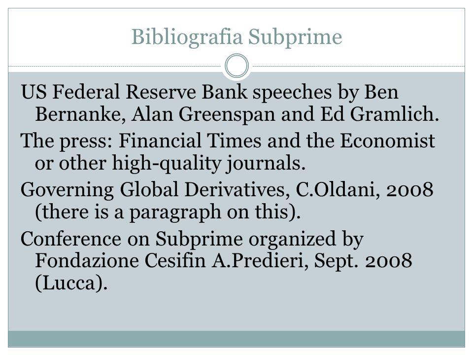 Bibliografia Subprime