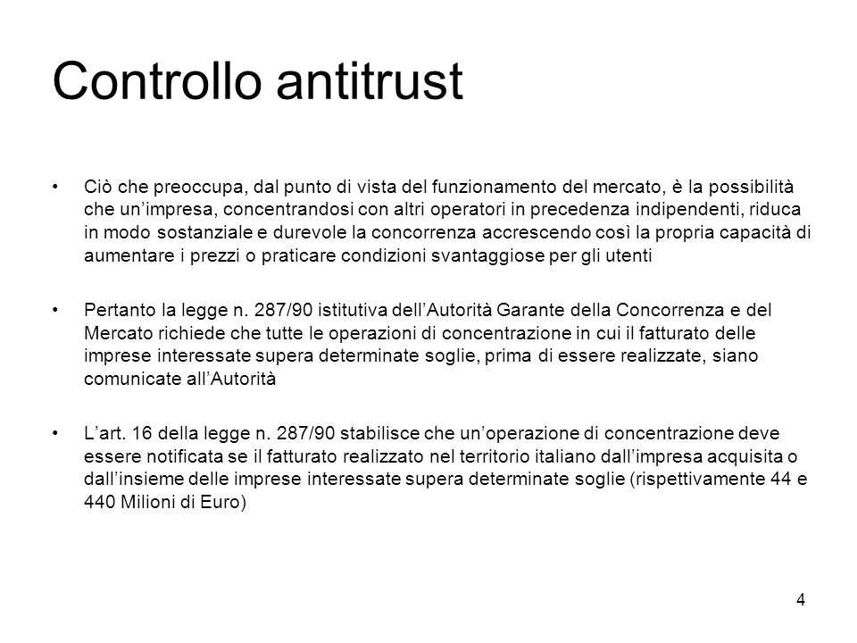 Controllo antitrust